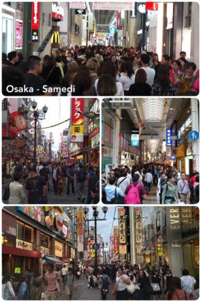 Osaka, le samedi à Dotombori