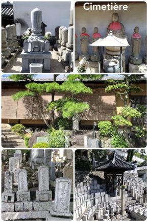 Visite d'un cimetière japonais