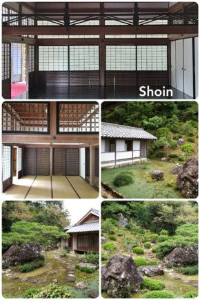 Shoin, villa et petit jardin