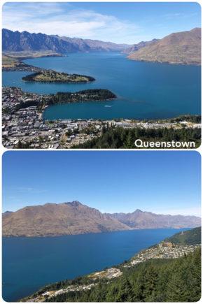 Queenstown vue d'en haut